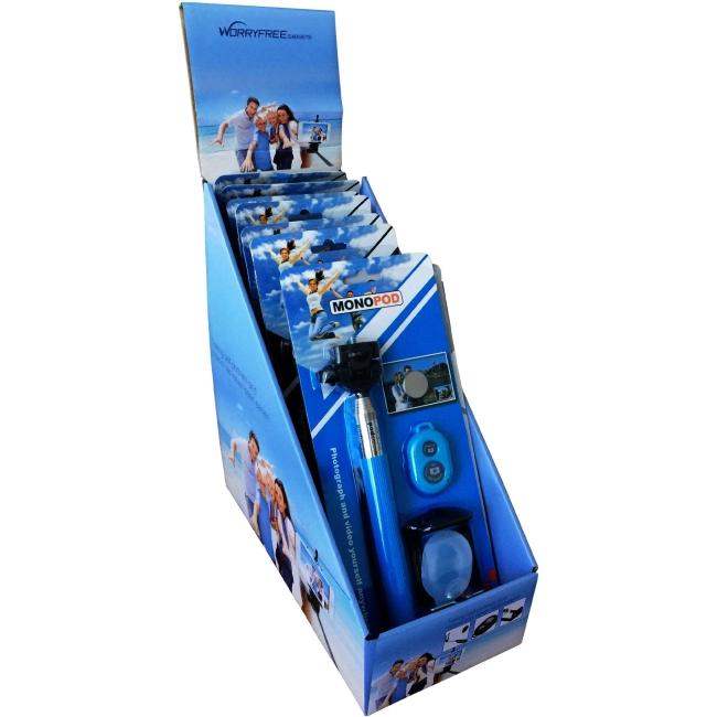 Worryfree Gadgets Monopod 10PC-SELFIE-BLU