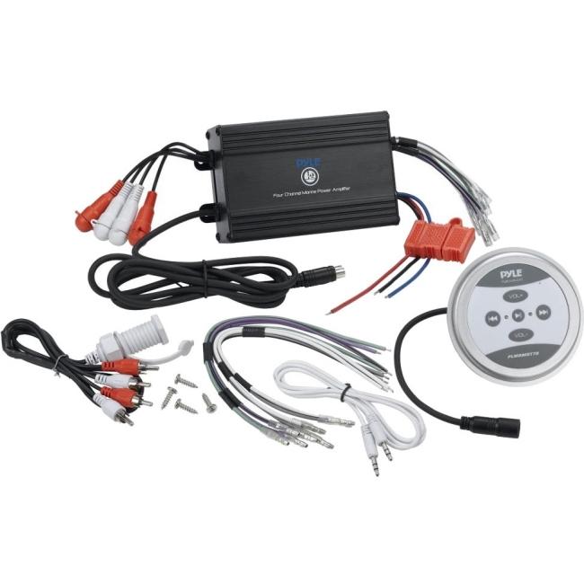 Pyle Bluetooth Marine Amplifier, 600 Watt 2-Channel Water Resistant Amp (Black) PLMRMBT5B
