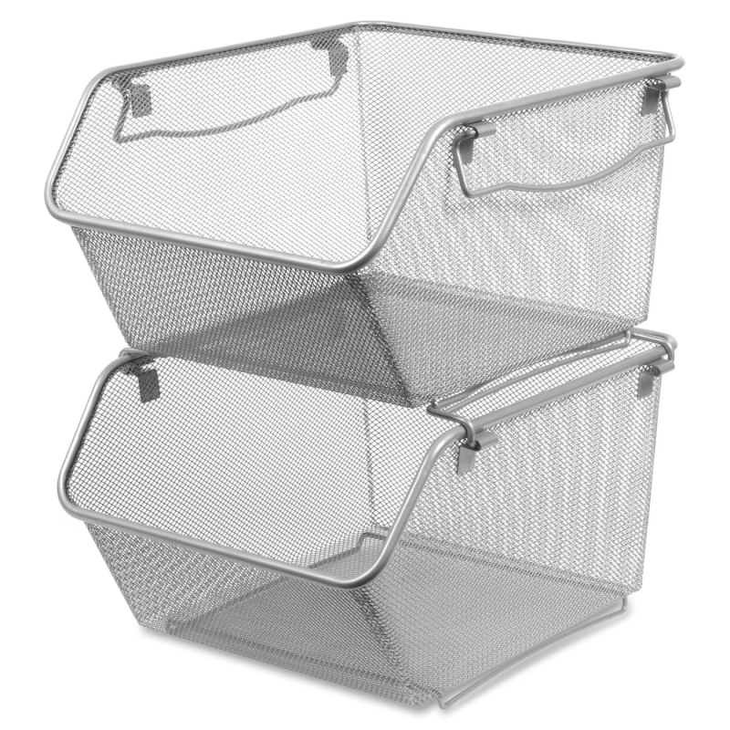 Lorell Mesh Stacking Storage Bin 84244 LLR84244