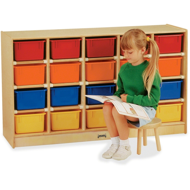 Jonti-Craft 20 Cubbie-Tray with Colored Bins 0421JC JNT0421JC