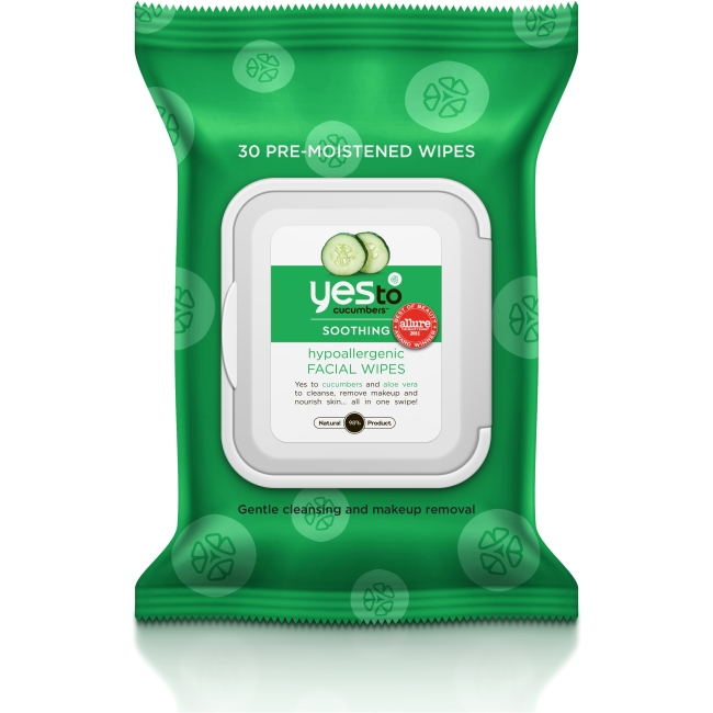 Yes To Cucumbers Hypoallergenic Facial Wipes 30 ct 391028