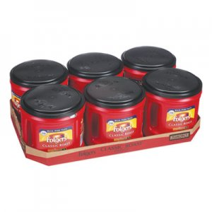 Folgers Coffee, Classic Roast, Ground, 30.5 oz Canister, 6/Carton FOL20421CT 2550020421CT