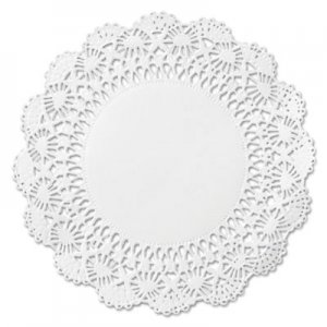 "Hoffmaster Cambridge Lace Doilies, Round, 12"", White, 1000/Carton HFM500239 500239"