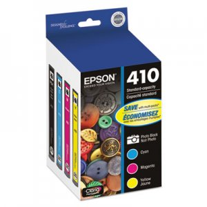 Epson T410520 (410) Ink, Black/Cyan/Magenta/Yellow, 4/PK EPST410520 T410520