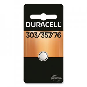 Duracell Button Cell Silver Oxide Calculator/Watch Battery, 303/357, 1.5V, 6/Box DURD303357PK D303/357BPK