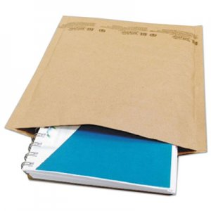 Genpak Natural Self-Seal Cushioned Mailer, #2, Barrier Bubble Lining, Self-Adhesive Closure, 8.5 x 12, Natural Kraft, 100