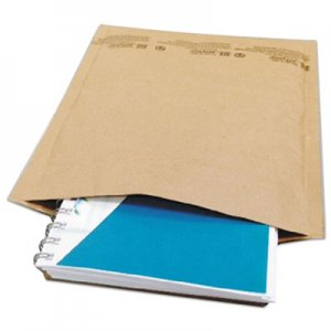 Genpak Natural Self-Seal Cushioned Mailer, #5, Barrier Bubble Lining, Self-Adhesive Closure, 10.5 x 16, Natural Kraft, 80