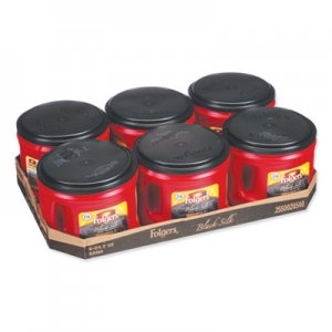 Folgers Coffee, Black Silk, 24.2 oz Canister, 6/Carton FOL20540CT 2550020540CT