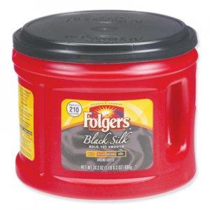 Folgers Coffee, Black Silk, 24.2 oz Canister FOL20540 2550020540