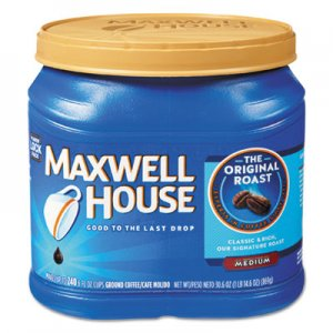 Maxwell House Coffee, Ground, Original Roast, 30.6 oz Canister, 6 Canisters/Carton MWH04648CT GEN04648CT