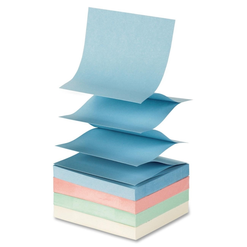Sparco Fanfold Pop-up Adhesive Pastel Note Pads 19851 SPR19851