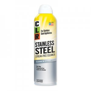 CLR Stainless Steel Cleaner, Citrus, 12oz Can, 6/Carton JELCSS12 CSS-12
