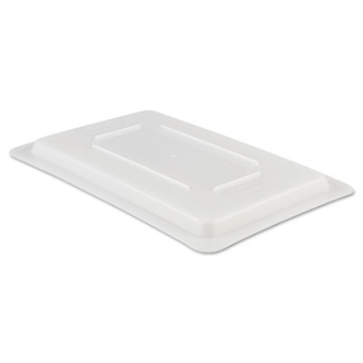 Rubbermaid Commercial Food/Tote Box Lids, 12w x 18d, White RCP3510WHI FG351000WHT