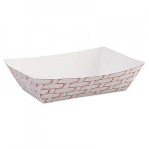 Boardwalk Paper Food Baskets, 6 oz Capacity, Red/White, 1000/Carton BWK30LAG040
