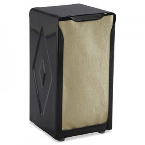 San Jamar Tabletop Napkin Dispenser, Tall Fold, 3 3/4 x 4 x 7 1/2, Capacity: 150, Black SJMH900BK