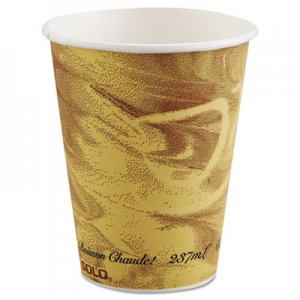 Dart Mistique Polycoated Hot Paper Cup, 8 oz, Printed, Brown SCC378MS 378MS-0029