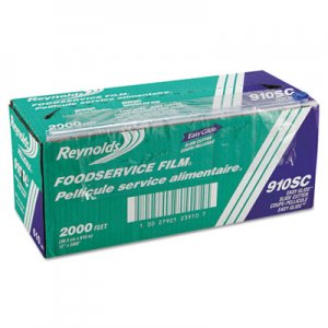 "Reynolds Wrap PVC Food Wrap Film Roll in Easy Glide Cutter Box, 12"" x 2000 ft, Clear RFP910SC 910SC"