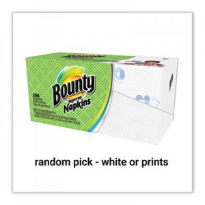 Bounty Quilted Napkins, 1-Ply, 12 1/10 x 12, Assorted - Print or White, 200/Pack PGC34885 34885PK