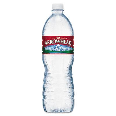Arrowhead Natural Spring Water, 1 Liter Bottle, 15 Bottles/Carton NLE827173 827173