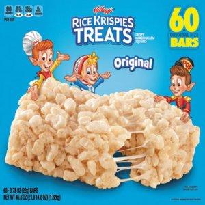 Kellogg's Rice Krispies Treats, Original Marshmallow, 0.78oz Pack, 54 per Carton KEB17120 3800010750
