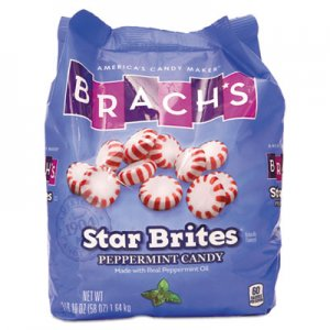 Brach's Star Brites Peppermint Candy, Individually Wrapped, 58 oz Bag BCH827132 827132