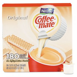 Coffee-mate Liquid Coffee Creamer, Original, 0.38 oz Mini Cups, 180/Carton NES753032 753032