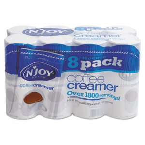 N'Joy Non-Dairy Coffee Creamer, 16 oz Canister, 8/Carton NJO827783 827783