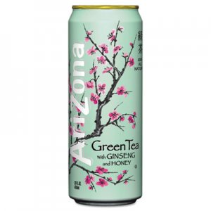 Arizona Green Tea with Ginseng & Honey, 23 oz Can, 24/Case AZC827195 827162