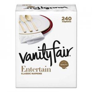 Vanity Fair Impressions Dinner Napkins, 3-Ply, 15 x 17, White, 240/Carton VTF831047 831047