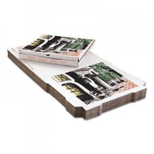 PIZZA Box Takeout Containers, 12in Pizza, White, 12w x 12d x 1 3/4h, 50/Bundle BOXPZCORE12 BOX PZCORE12