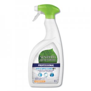 Seventh Generation Professional Glass and Surface Cleaner, Free and Clear, 32 oz Spray Bottle, 8/Carton SEV44730CT 44730