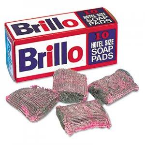 Brillo Hotel Size Steel Wool Soap Pad, 10/Box, 120/Carton PUXW240000CT SP1210BRILLO