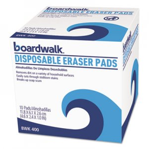 Boardwalk Disposable Eraser Pads, 10/Box, 16 Boxes/Carton BWK600CT 600CT