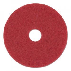 "Boardwalk Buffing Floor Pads, 12"" Diameter, Red, 5/Carton BWK4012RED"