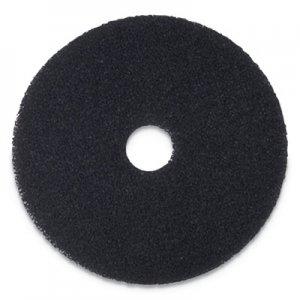 "Boardwalk Stripping Floor Pads, 20"" Diameter, Black, 5/Carton BWK4020BLA"