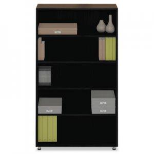 Safco e5 Series Five-Shelf Bookcase, 36w x 15d x 62h, Raven MLNEZBC3662AHB EZBC3662AHB