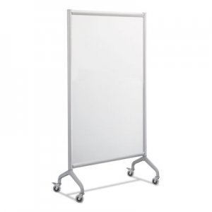 Safco Rumba Full Panel Whiteboard Collaboration Screen, 36w x 16d x 66h, White/Gray SAF2016WBS 2016WBS