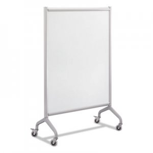 Safco Rumba Full Panel Whiteboard Collaboration Screen, 36w x 16d x 54h, White/Gray SAF2014WBS 2014WBS