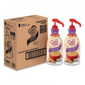 Coffee mate Liquid Coffee Creamer, Sweetened Original, 1.5 Liter Pump Bottle, 2/Carton NES13799CT