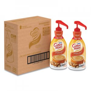 Coffee-mate Liquid Coffee Creamer, Hazelnut, 1.5 Liter Pump Bottle, 2/Carton NES31831CT 31831