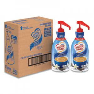 Coffee mate Liquid Coffee Creamer, French Vanilla, 1.5 Liter Pump Bottle, 2/Carton NES31803CT 31803