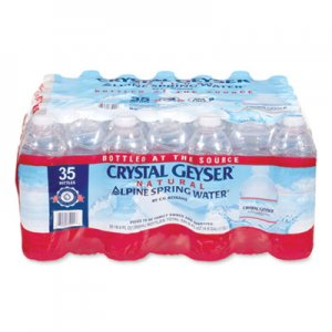 Crystal Geyser Alpine Spring Water, 16.9 oz Bottle, 35/Case CGW35001CT 35001