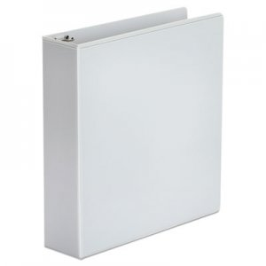 "Genpak Economy Round Ring View Binder, 3 Rings, 2"" Capacity, 11 x 8.5, White, 6/Pack UNV20982PK"