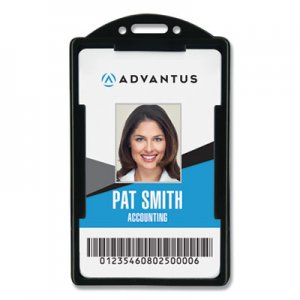 Advantus Vertical ID Card Holders, 2 1/8 x 3 3/8, Black, 25 per Pack AVT75657 75657