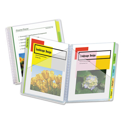 C-Line 10-Pocket Poly Portfolio with Write-On Tabs, Polypropylene, Clear CLI33650 33650