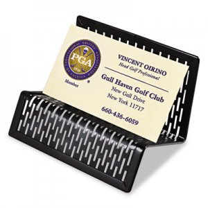 Artistic Urban Collection Punched Metal Business Card Holder, Holds 50 2 x 3 1/2, Black AOPART20001 ART20001