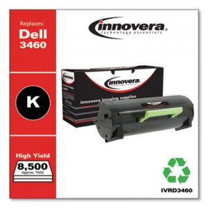 Innovera Remanufactured Black High-Yield Toner, Replacement for Dell B3460 (3319806), 8,500 Page-Yield IVRD3460