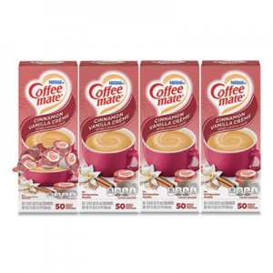 Coffee-mate Liquid Coffee Creamer, Cinnamon Vanilla, 0.38 oz Mini Cups, 50/Box, 4 Boxes/Carton, 200 Total/Carton