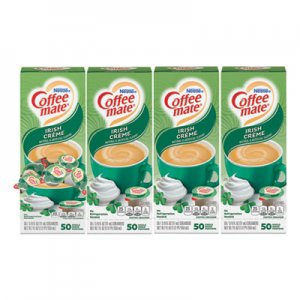 Coffee-mate Liquid Coffee Creamer, Irish Creme, 0.38 oz Mini Cups, 50/Box, 4 Boxes/Carton, 200 Total/Carton