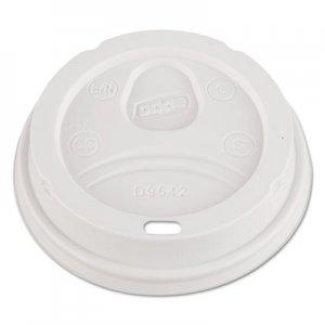 Dixie Dome Drink-Thru Lids, Fits 12 oz. & 16 oz. Paper Hot Cups, White, 100/Pack DXED9542PK D9542